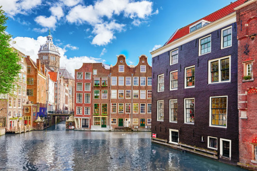 "Beautiful views of the streets, ancient buildings, people, embankments of Amsterdam - also call ""Venice in the North""."